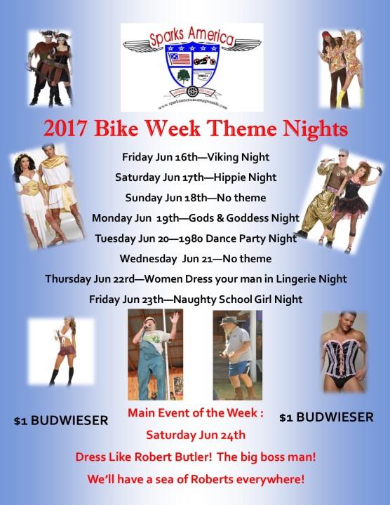 Bike Week Themes